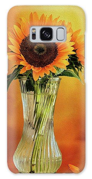 Sunshine In A Vase Galaxy Case by Diane Schuster