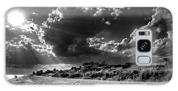 Sunshine On Sanibel Island In Black And White Galaxy Case