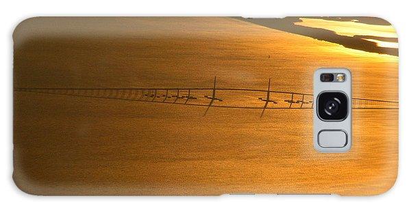 Sunshine Skyway Bridge At Sunset Galaxy Case