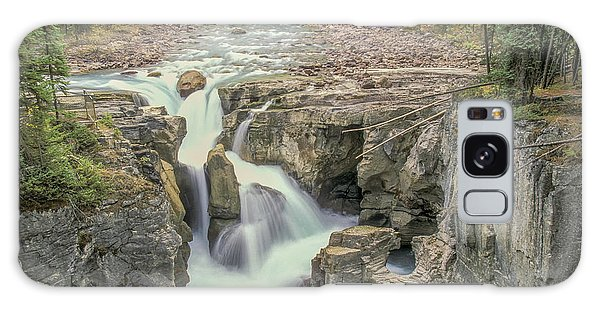 Galaxy Case featuring the photograph Sunwapta Falls 2006 01 by Jim Dollar
