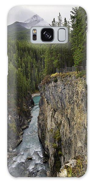 Sunwapta Falls Canyon Galaxy Case by John Gilbert