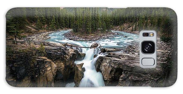 Sunwapta Falls In Jasper National Park Galaxy Case