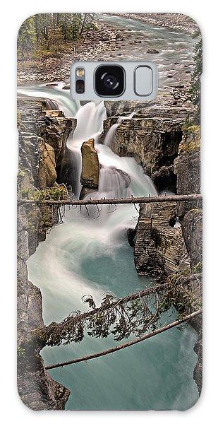 Galaxy Case featuring the photograph Sunwapta Falls by John Gilbert