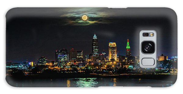 Super Full Moon Over Cleveland Galaxy Case