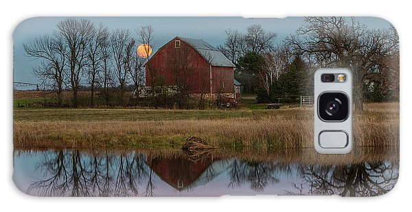 Super Moon And Barn Series #1 Galaxy Case