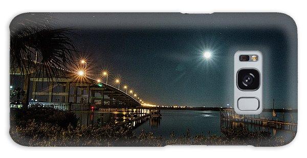 Super Moon And Bridge Lights Galaxy Case