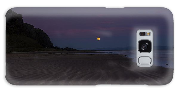 Super Moon At Downhill Beach Galaxy Case