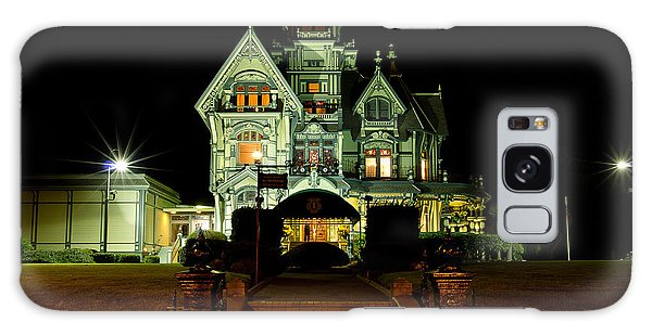 Super Moon Over Carson Mansion Galaxy Case
