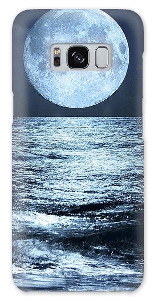 Super Moon Over Ocean Galaxy Case