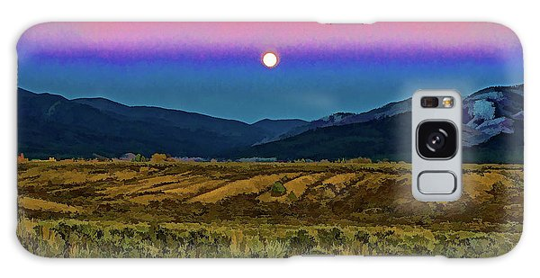 Super Moon Over Taos Galaxy Case