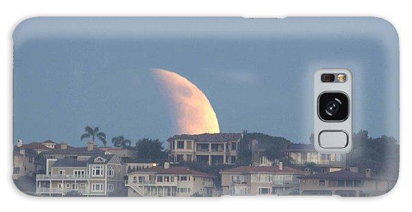 Super Moon Rise Galaxy Case
