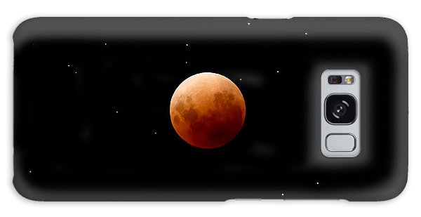 Super Red Blue Moon Eclipse Galaxy Case