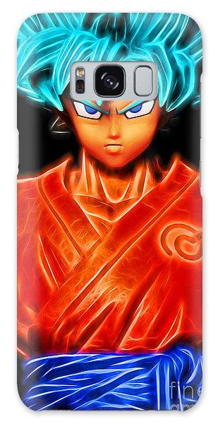 Galaxy Case featuring the digital art Super Saiyan God Goku by Ray Shiu