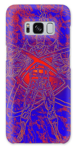 Superhero Sketch Enhanced Galaxy Case