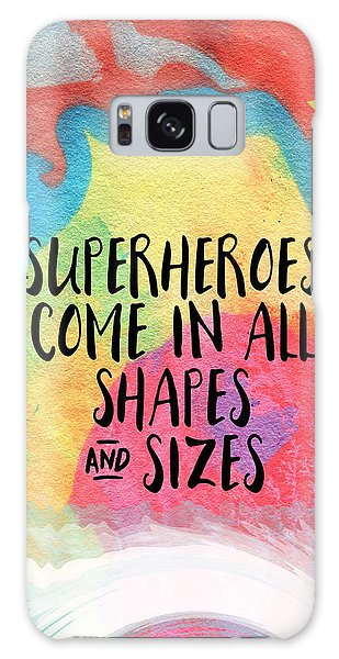 Superheroes- Inspirational Art By Linda Woods Galaxy Case