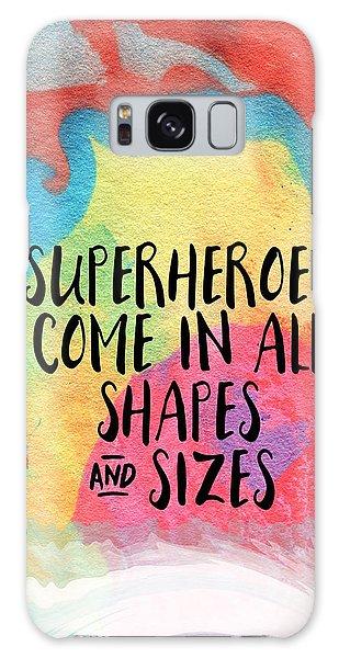 Superhero Galaxy Case - Superheroes- Inspirational Art By Linda Woods by Linda Woods