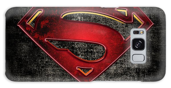Superman Logo Digital Artwork Galaxy Case