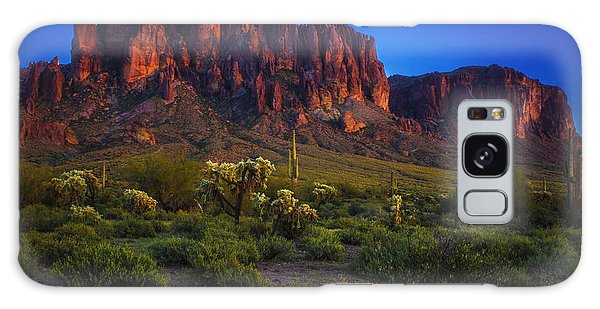 Superstition Mountain Sunset Galaxy Case