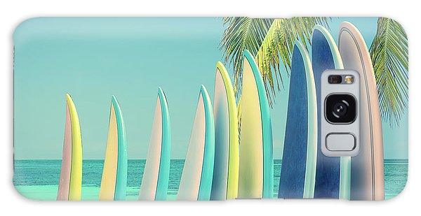 Sea Stacks Galaxy Case - Surfboards by Delphimages Photo Creations