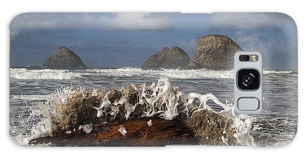 Surf And Three Arch Rocks Galaxy Case