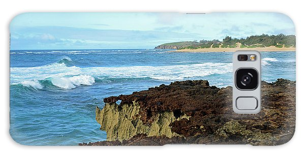 Surf At Mahaulepu Beach Hawaii Galaxy Case