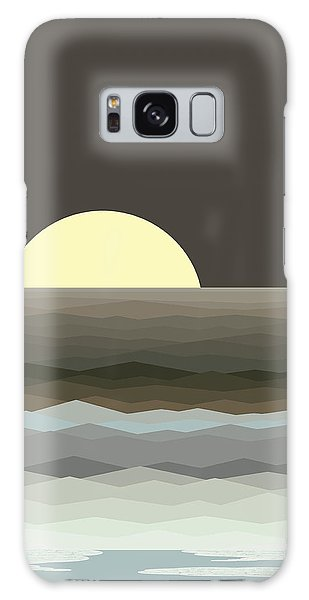 Surf At Moonrise Galaxy Case