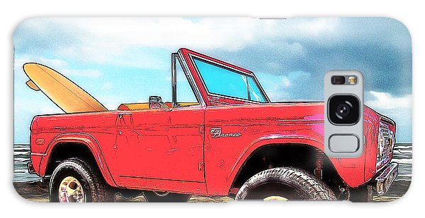 Surf Bronco Beyond The 4 Wheel Drive Only Sign Padre Island Galaxy Case