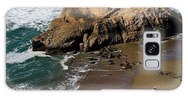 Surf Fishing At Ocean Beach Galaxy Case