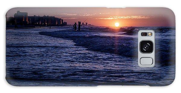 Surf Fishing At Sunrise Galaxy Case
