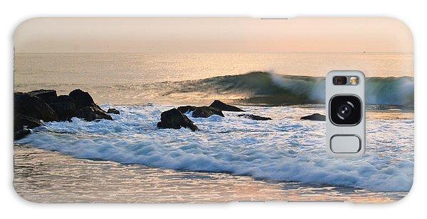 Surf In Peachy Ocean Grove Sunrise Galaxy Case
