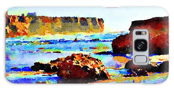 Galaxy Case featuring the painting Surf The Headlands by Angela Treat Lyon