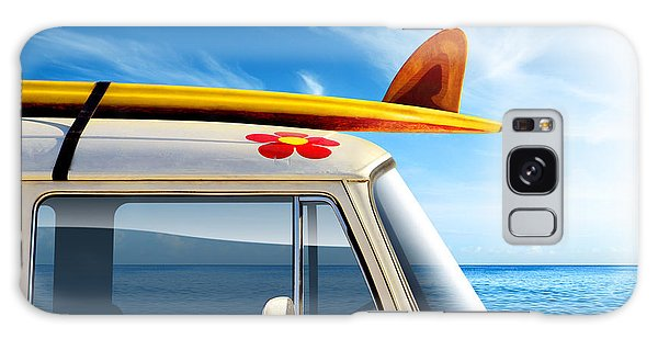 Old Road Galaxy Case - Surf Van by Carlos Caetano