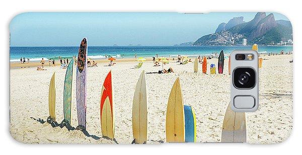 Surfboards On Ipanema Beach, Rio De Janeiro Galaxy Case