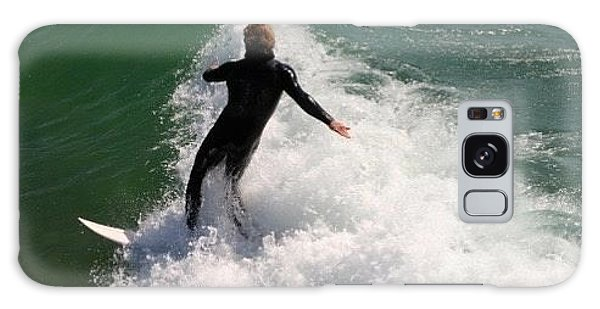 Surfer Catching A Wave Galaxy Case