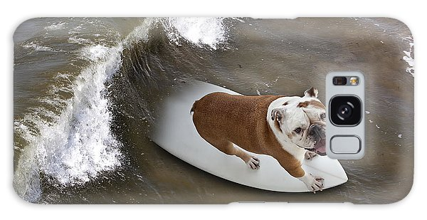 Surfer Dog Galaxy Case
