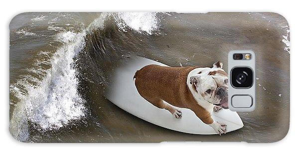Surfer Dog Galaxy Case by John A Rodriguez