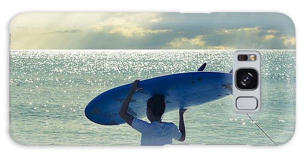 Surfer Girl Square Galaxy Case