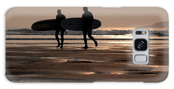 Surfers At Sunset Galaxy Case