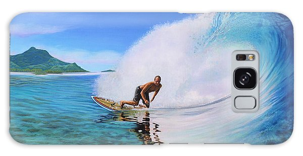 Surfing Dan Galaxy Case by Jane Girardot