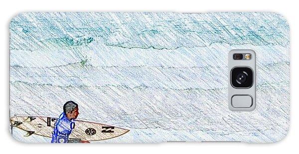 Surfer In Aus Galaxy Case by Daisuke Kondo