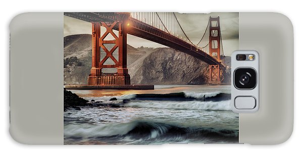 Surfing The Shadows Of The Golden Gate Bridge Galaxy Case by Steve Siri