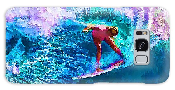 Surfs Like A Girl 1 Galaxy Case by ABeautifulSky Photography