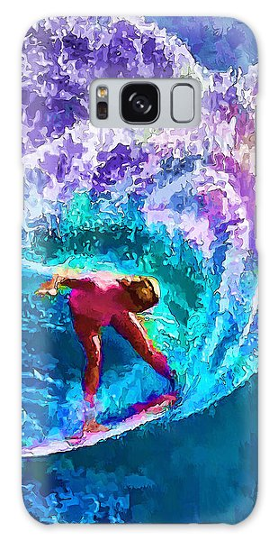 Surfs Like A Girl 2 Galaxy Case by ABeautifulSky Photography