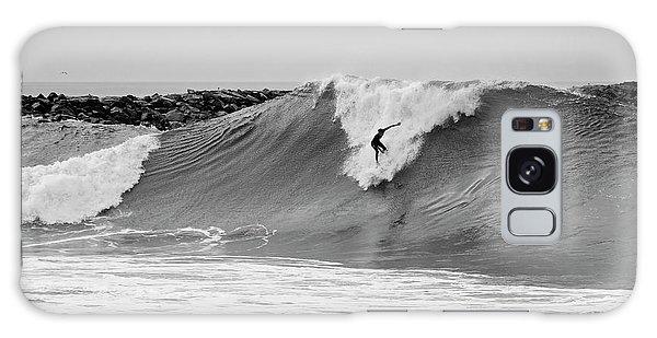 Surf's Up Bw Galaxy Case by Eddie Yerkish