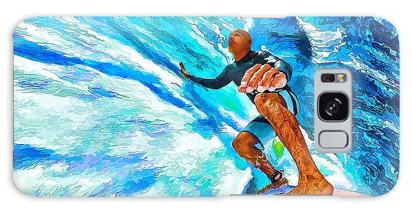 Surf's Up With Kelly Slater Galaxy Case by ABeautifulSky Photography