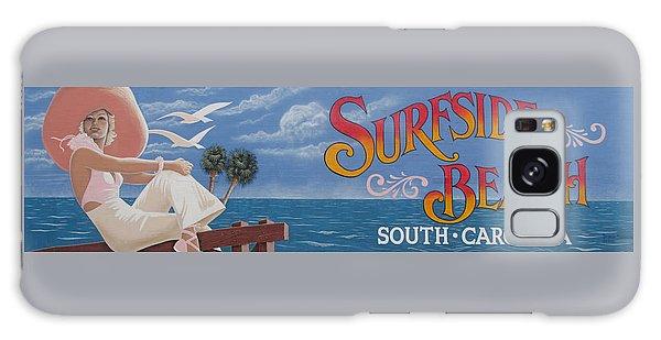 Surfside Beach Sign Galaxy Case