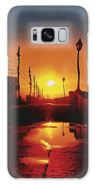 Surreal Cityscape Sunset Galaxy Case