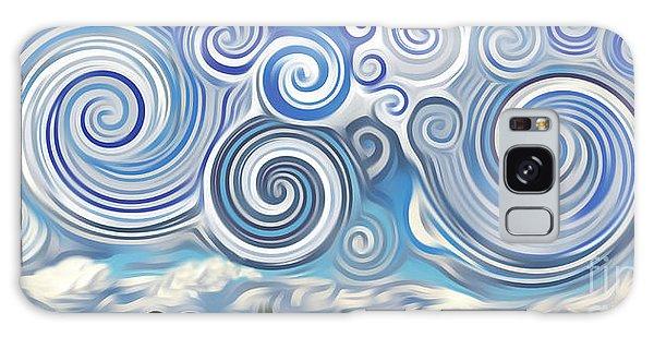 Surreal Cloud Blue Galaxy Case
