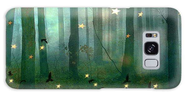 Surreal Dreamy Fantasy Nature Fairy Lights Woodlands Nature - Fairytale Fantasy Forest Woodlands  Galaxy Case by Kathy Fornal