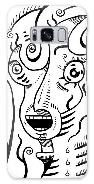 Surrealism Scream Black And White Galaxy Case